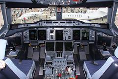 Airbus A380 F-WWDD Cockpit (Flightline Aviation Media) Tags: airplane aircraft aviation jet cockpit airbus a380 flightdeck eaa oshkosh airventure stockphoto fwwdd canon50d bruceleibowitz osh09