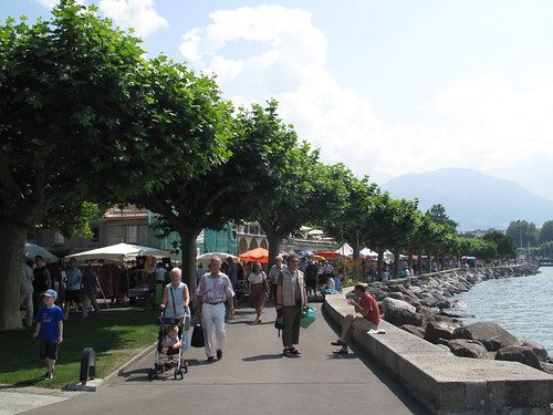 Market in Vevey, Switzerland