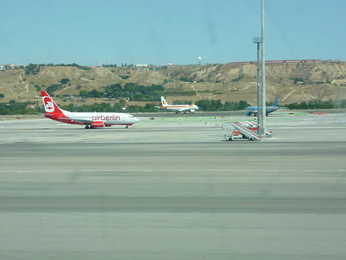 Airplanes at Madrid airport