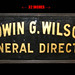 Edwin G Wilson Funeral Director - Reverse Glass Painted Sign