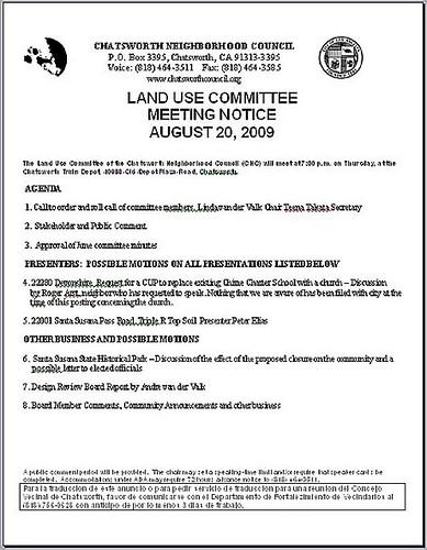 Land Use Agenda