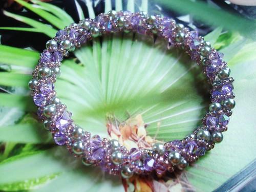 #CRBR73 = CRYSTAL BANGLES  ( Violet ) SGD$20