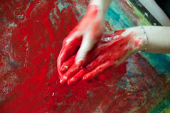 Les mains sales-37 (metatong) Tags: red color painting rouge blood hands acrylic hand main peinture killer murder dexter sang mains guilty murderer coupable acrylique tueur d300 redpaint meurtre meurtrier peinturerouge