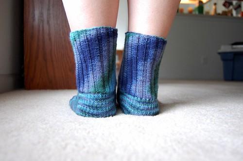 FO: Feelin' Blue socks