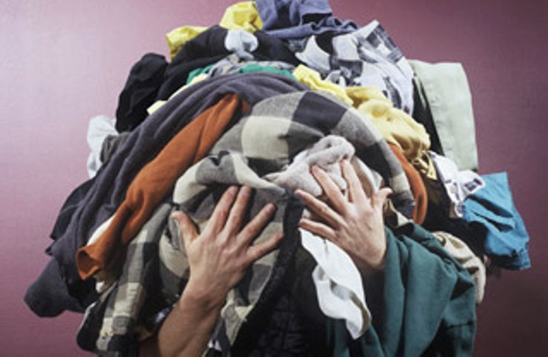 recycle textiles clothing pile
