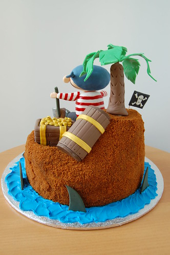 Pirate's treasure cake - back