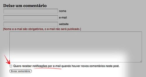 Uma pequena mudança na interface do blog, mas que permitirá um contato mais próximo.