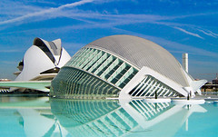 Ciudad de las Artes y las Ciencias, Valencia, Spain, by jmhdezhdez (jmhdezhdez) Tags: city travel bridge copyright espaa abstract building art history tourism water glass valencia architecture river spain opera europe arte edificio hamilton arts engineering ciudad cable f1 ferrari paseo calatrava curve curved alameda alonso modernarchitecture raikkonen masa sciences stay agora santiagocalatrava allrightsreserved vidrio espania ciudaddelasartesylasciencias pritzker curving espanya turia arquitecto artcafe hormign ingeniera kovalainen ingeniero trencadis principefelipe renaultf1team abigfave serrera cityoftheartsandsciences ciudaddelasartesylascienciasdevalencia arquitecturacontempornea granpremiof1 httpwwwjmhdezhdezcom contactjmhdezhdezcom globalworldawards josmiguelhernndezhernndez frmula1valencia cityoftheartsandthesciencesofvalence puentedelaserrera artcafedomidoexhibitionscomein