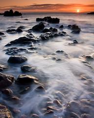 Starney Bay - Sunrise (David Kendal) Tags: longexposure seascape sunrise dawn shoreline daybreak stabbs berwickshire rockyshore stabbshead scottishborders scottishcoast scottishcoastline mistywater alemdagqualityonlyclub starneybay