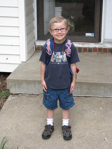 Zach's First Day of Preschool - 1