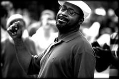 'Cuz you got soul, you're so heavy. (kismekate) Tags: blackandwhite bw africanamerican peformance flickrchallengegroup newyorkcitynewyorkgreenwichvillagewashingtonsquareparkperformersstreetsingingdancingnikond40nikonspeedlight
