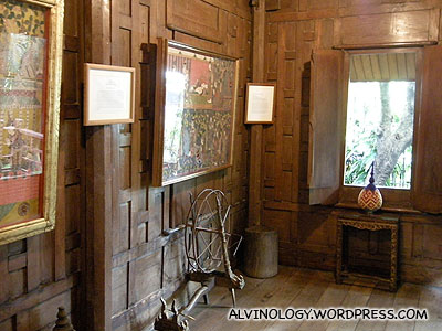 Interior of one of smaller houses