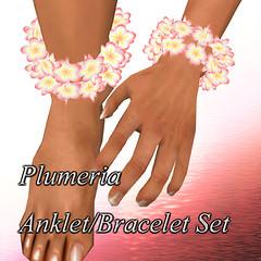 Plumeria AnkLet/Bracelet (Set)