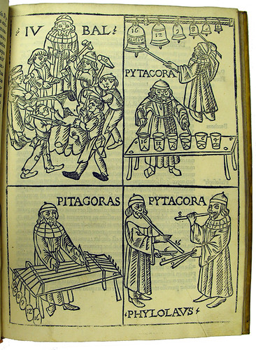 Woodcut illustrations in Gafurius, Franchinus: Theorica musicae