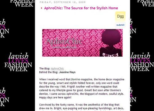 aphrochic in lavish magazine september 2009