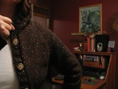 Hoodie - button & raglan detail