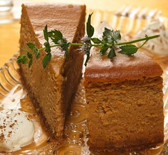 Pumpkin Cheesecake Recipe (Betty Crocker Recipes) Tags: thanksgiving autumn party fall cake guests crust pumpkin recipe dessert whippedcream creamcheese filling garnish entertaining bettycrocker grahamcracker glassplate pumpkincheesecake