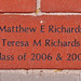 Matthew E. Richards Teresa Richards Class of 2006 & 2007