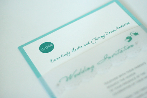 Modern Green Birdie Wedding Invitation-3