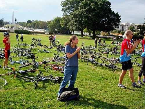 bikes on the lawn