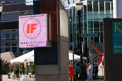 the entrance to the idea festival in downtown louisville