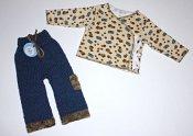 *spring sale* Safari set - cargo longies & wrap shirt - newborn