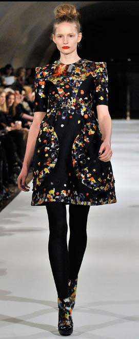 Erdem flowered dress Fall 2009