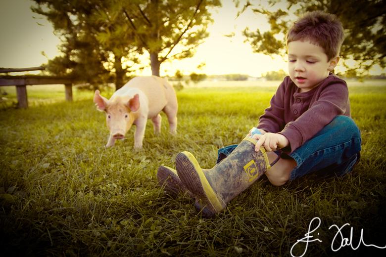 Eli & the pigs.