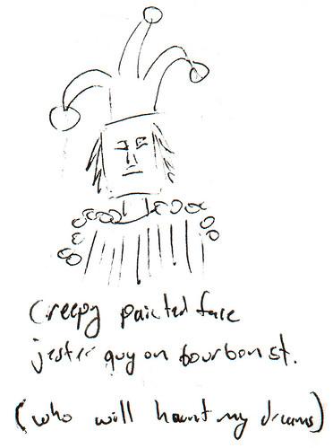 366 Cartoons - 257 - Creepy Painted Face