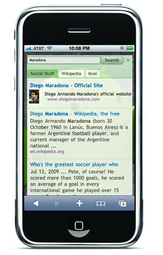 Google Custom Search iPhone