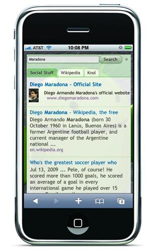 Google Custom Search iPhone