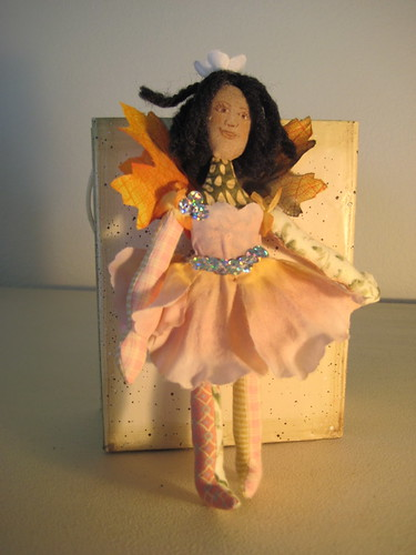 Autumn leaf flower fairy by Grandma-in-Colorado.