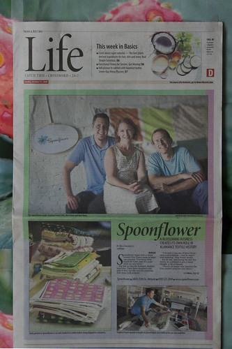 Greensboro News & Record story on Spoonflower