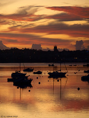 Still (ExeDave) Tags: uk morning england orange sunrise river landscape boats dawn october estuary explore coastal devon gb yachts 2009 exmouth waterscape exe starcross eastdevon slightcrop interestingness500 exeestuary teignbridge superaplus aplusphoto moreorlessastaken pa238326