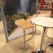 Lem Stool Black, Lem Stool White, Lem Stool Dark Oak, Lem Stool Light, Bar Table White - Furniture Hire - Venezuela Exposition Stand, Excel, London