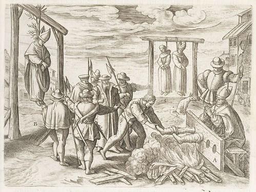 Persecutiones adversus Catholicos à Protestantibus Caluinistis excitae in Anglia e