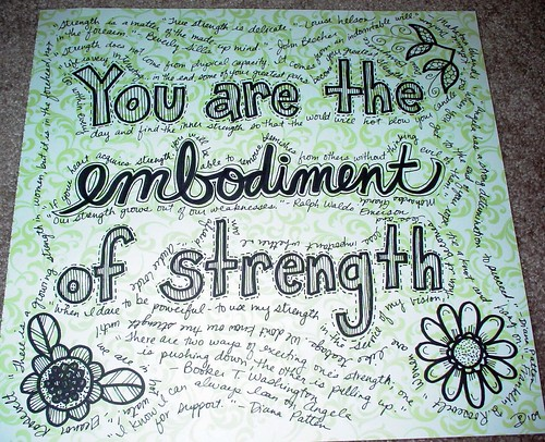You Are the Embodiment of Strength