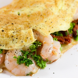 Prawn, Sun-Dried Tomatoes & Parsley Omelette