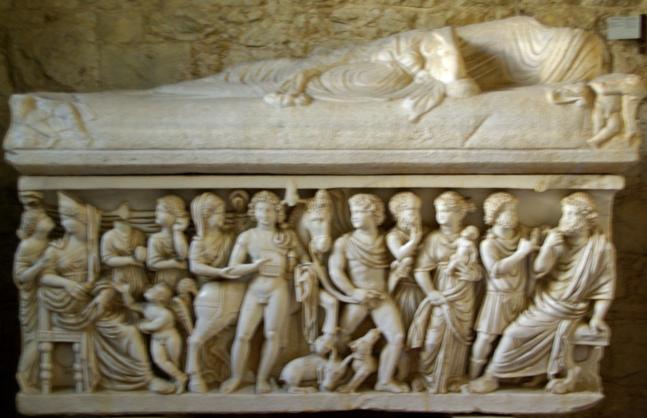 Sarcòfag amb Fedra i Hipòlit, Museu Arqueològic, Split