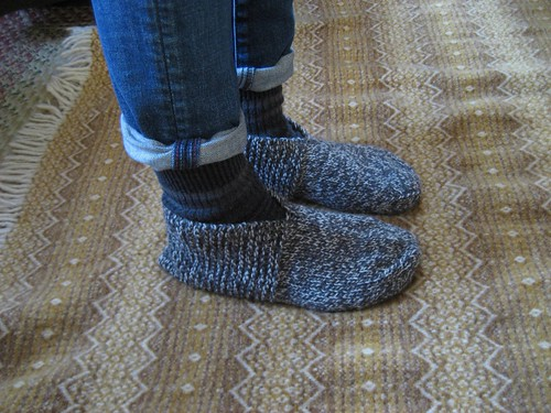 Knitting Patterns Bed Socks Easy : bed socks :: pattern notes Anna McClurg: bed socks ...