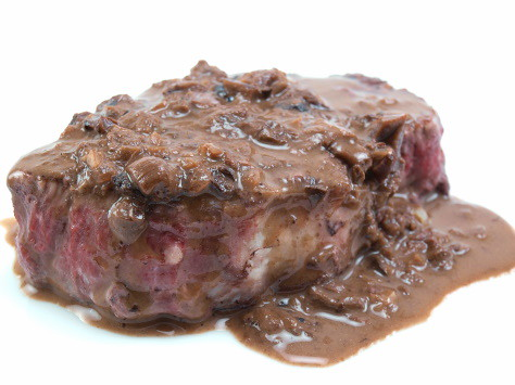 Seared Steak with Mushroom Cream Sauce