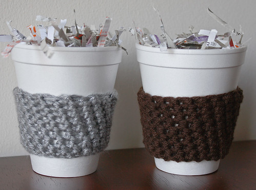 Crocheted Coffee Cup Cozies