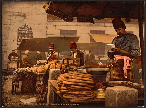 [Cook in the rue de Stamboul, Constantinople, Turkey] (LOC)