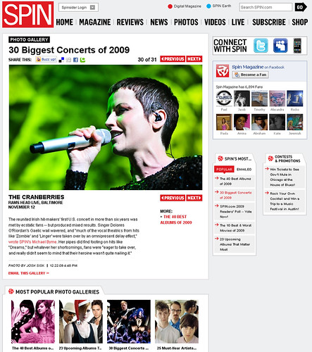 spin 30 biggest concerts of 2009