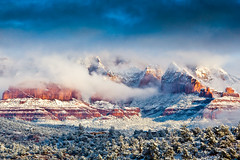 (Laura Travels) Tags: winter arizona snow mountains southwest landscape desert sedona redrocks coconinonationalforest
