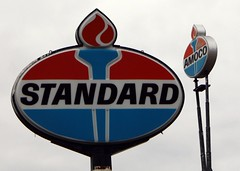 Standard Sign - Cairo, Illinois (Laurence's Pictures) Tags: signs illinois highway indiana 66 historic gas route torch cairo oil british gasoline bp standard oval whiting stations amoco petroleum stanolind