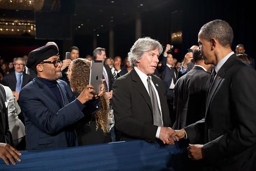 Obama, Spike Lee and the iPad Camera