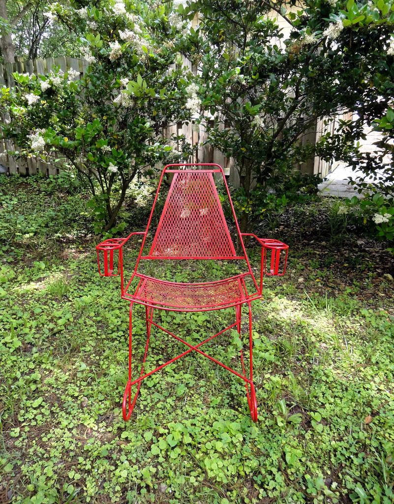 Vintage Metal Outdoor Rocking Chair