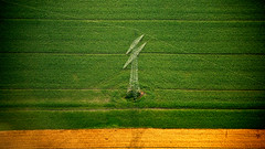 My Point Of View (rasenkantenstein) Tags: above shadow green tower nature up field lines yellow composition plane germany landscape landscapes wire nikon power shot air down center aerial line magdeburg wires fields middle scape harz scapes quedlinburg powertower saxonyanhalt sachsenanhalt d80 rasenkantenstein theperfectphotographer