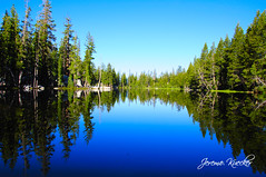 Serenity (Jereme Kuecker) Tags: trees lake reflection water landscape mirror woods nikon mosquitolake d90 nikond90 flickrloversgroup jeremekuecker